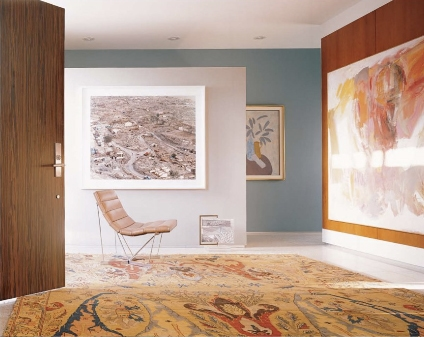 Modern Furniture With Oriental Rug oriental rugs in modern spaces | manhattan nest