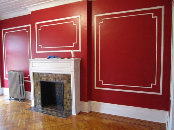 Which Brings Us To The Living Room Is Also And Red Very Blood Painted So Badly You Can T Tell From Pictures