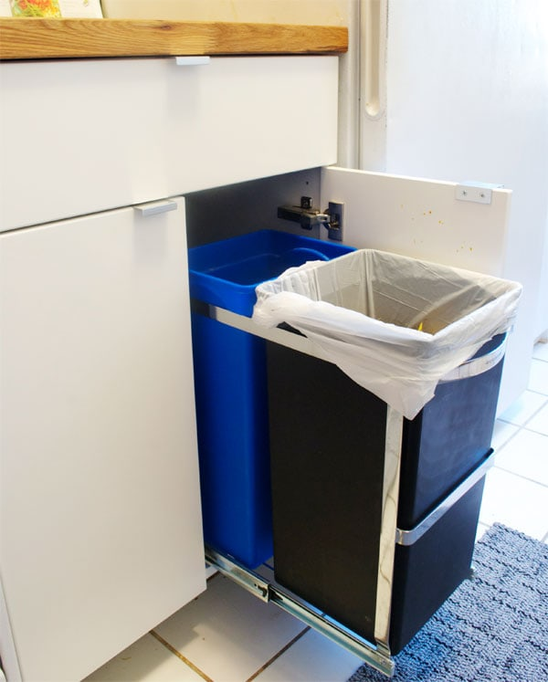 Let s talk about the kitchen manhattan nest - Ikea pull out trash bin ...