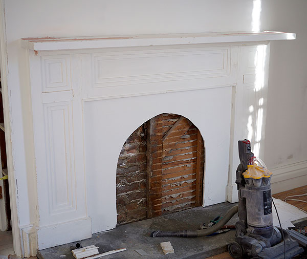 building the faux fireplace manhattan nest