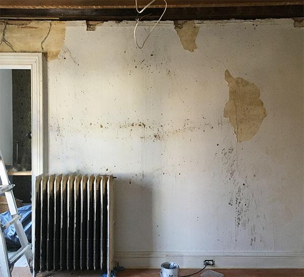 Den Renovation: Plaster Repair, Insulation, Drywall