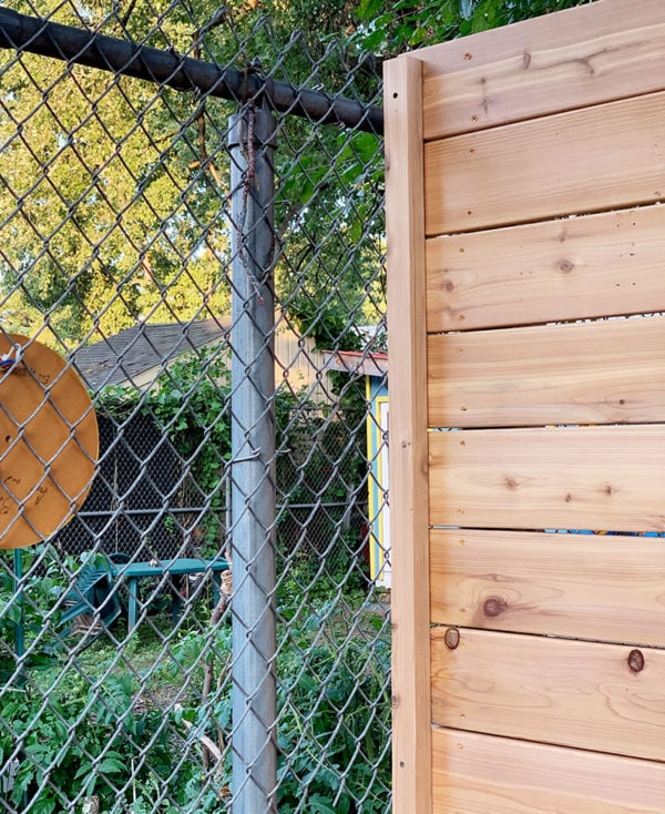 Bluestone Backyard Concrete Fencing And Covering Chain Link